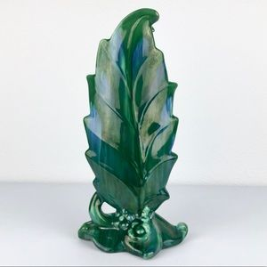VINTAGE Royla Haeger 1940's Elm Briar Leaf Agate V